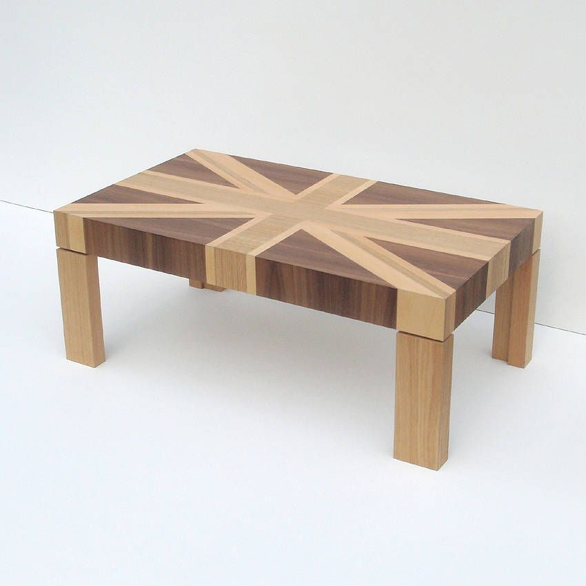 Wooden Union Jack Table Coffee