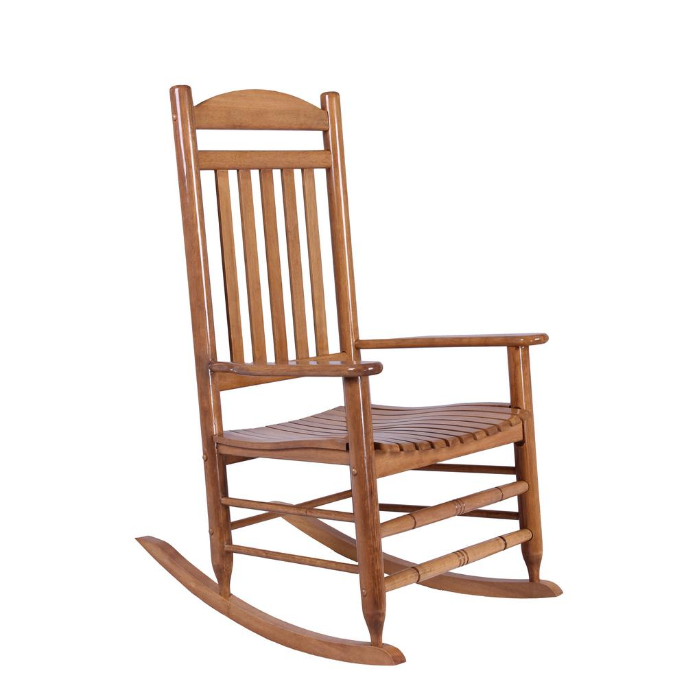 Hampton Bay Natural Wood Rocking Chair It 130828n The Home Depot