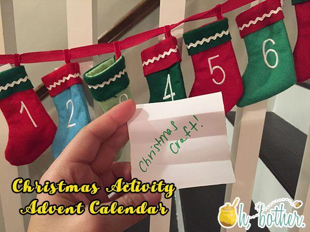 Christmas Activity Advent Calendar @ohbotherblog