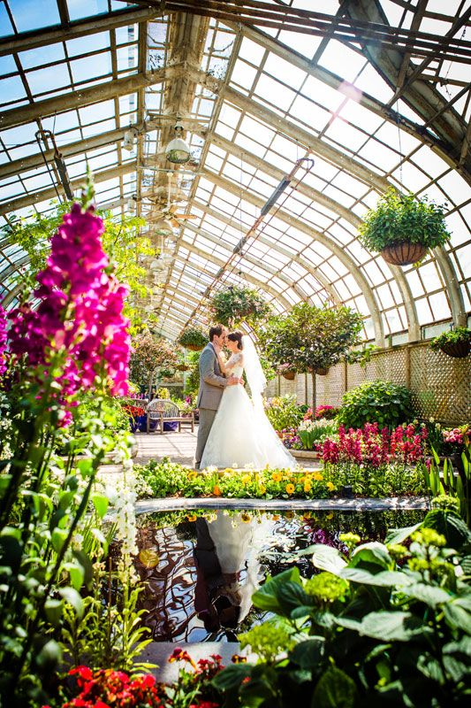 Lincoln Park Conservatory Wedding Photo