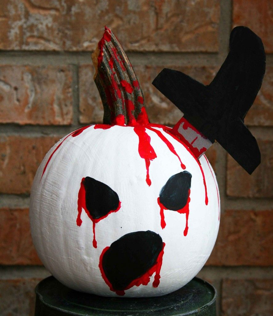 Scary Painted Pumpkin Creations Pinterest Scary