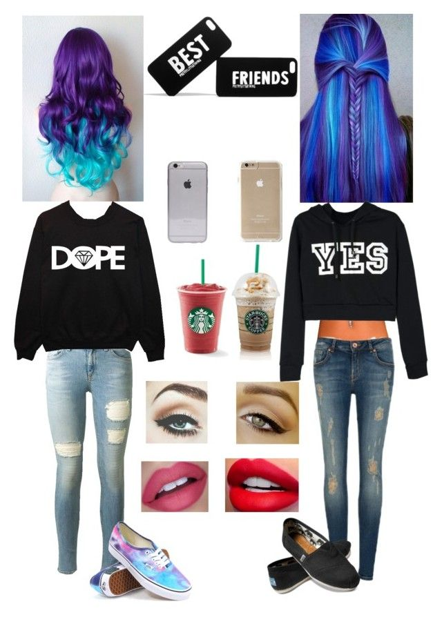 """""""Best Friends"""" by haily74 ❤ liked on Polyvore featuring mode, Ted Baker, rag & bone, Vans, TOMS, women's clothing, women, female, woman et misses"""