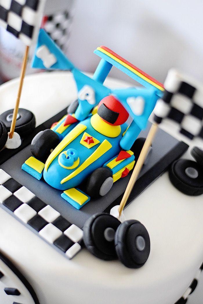 Mavericks Speedy Race Car Birthday Party Car cake toppers Race