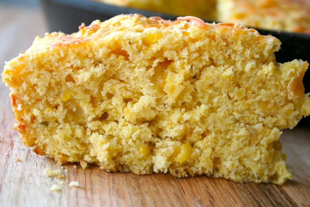 Cheesy Corn Cornbread from The BakerMama - Gold Medal Blog