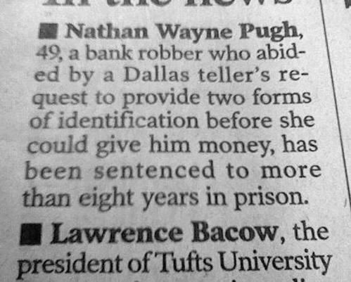 Robbing banks