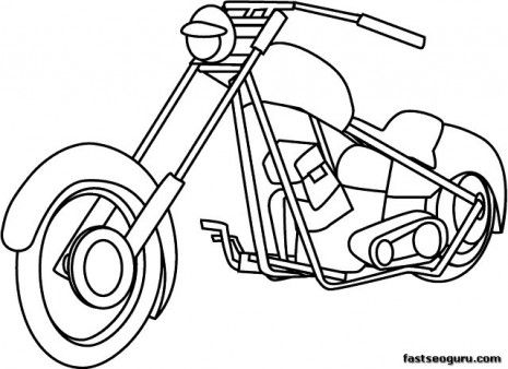 printable motorcycle coloring pages for childrens pictures childrens