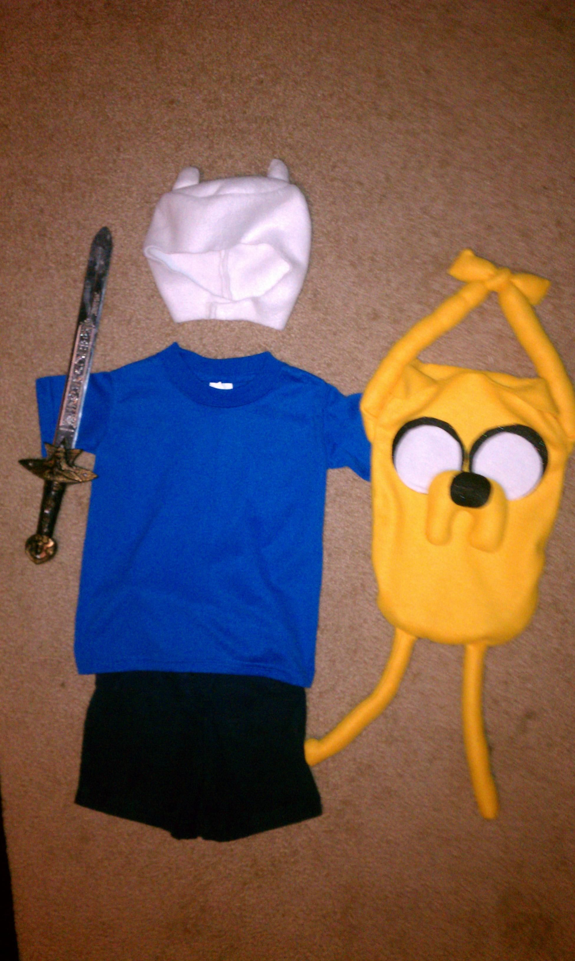 adventure time (finn costume and jake trick or treat bag) | fall in
