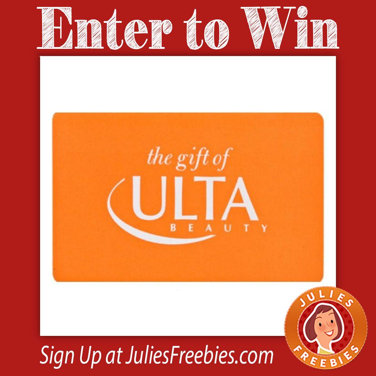Win A 500 Ulta Gift Card Ulta Gift Card Gift Card Giveaway Free Birthday Gifts