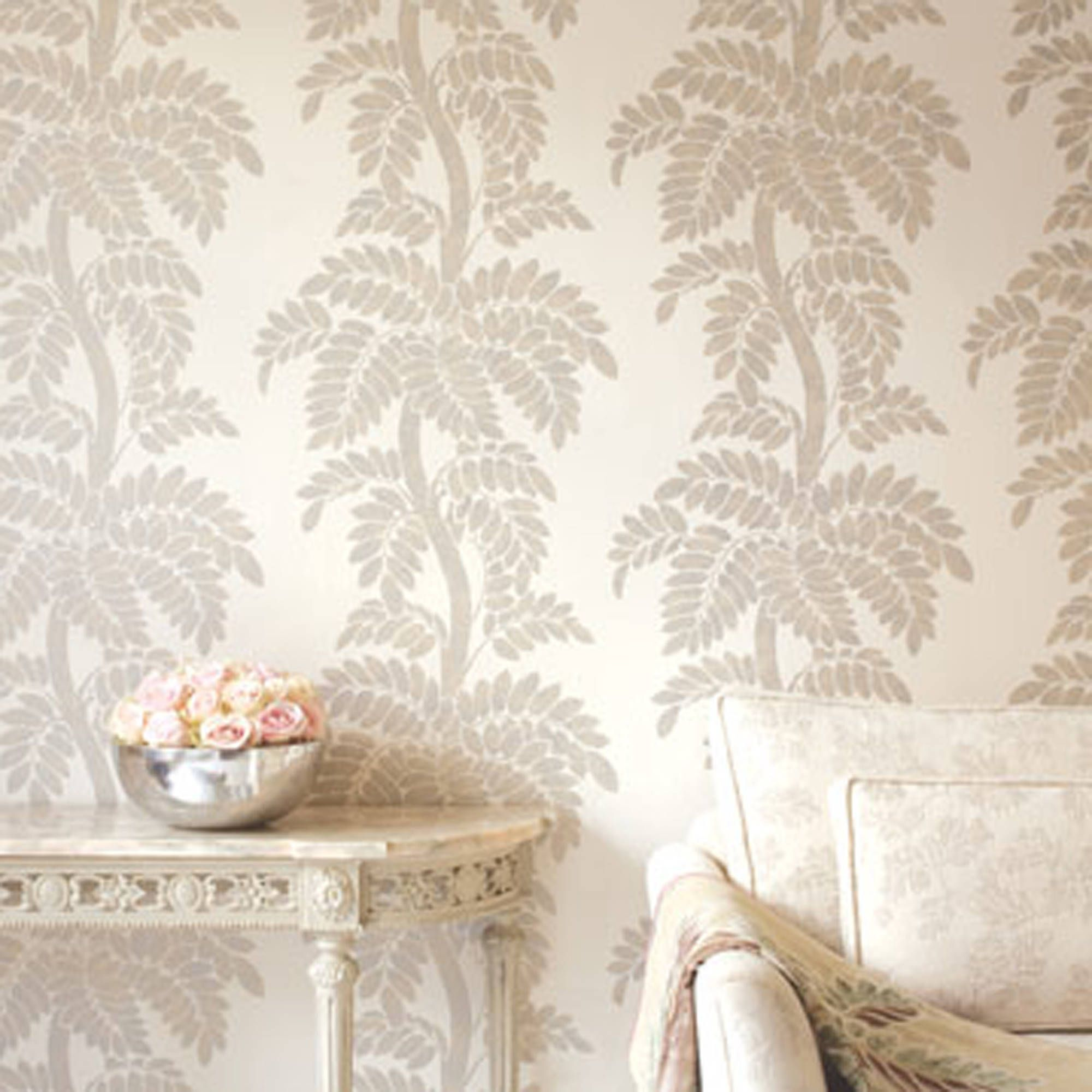 wisteria from glamour collection - anna french - thibaut | wallpaper