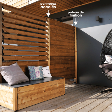 cloison bois panneau lames orientables sun l120cm cloison pinterest cloison bois. Black Bedroom Furniture Sets. Home Design Ideas