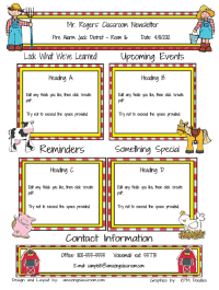 school newsletter creator super easy classroom pinterest