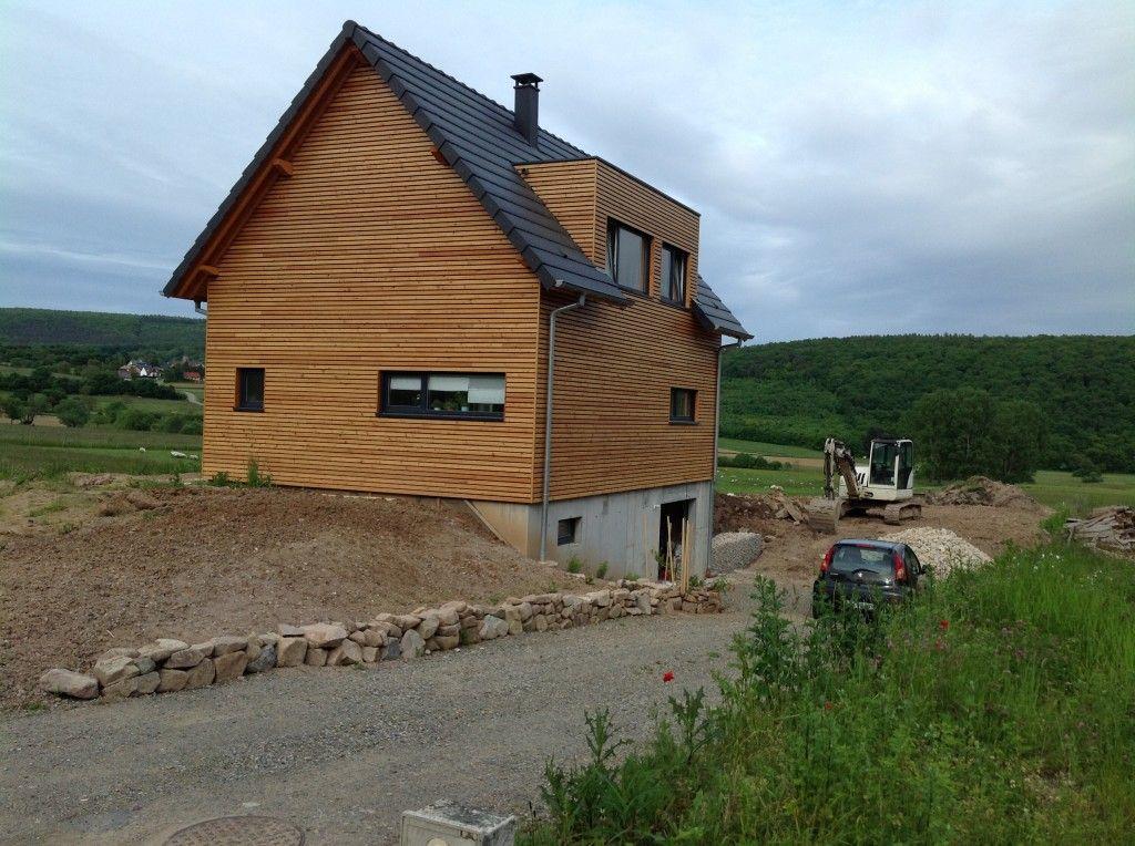 Maison A Ossature Bois Avec Garage Maison Ossature Bois Construction Maison Bois Maison Bois