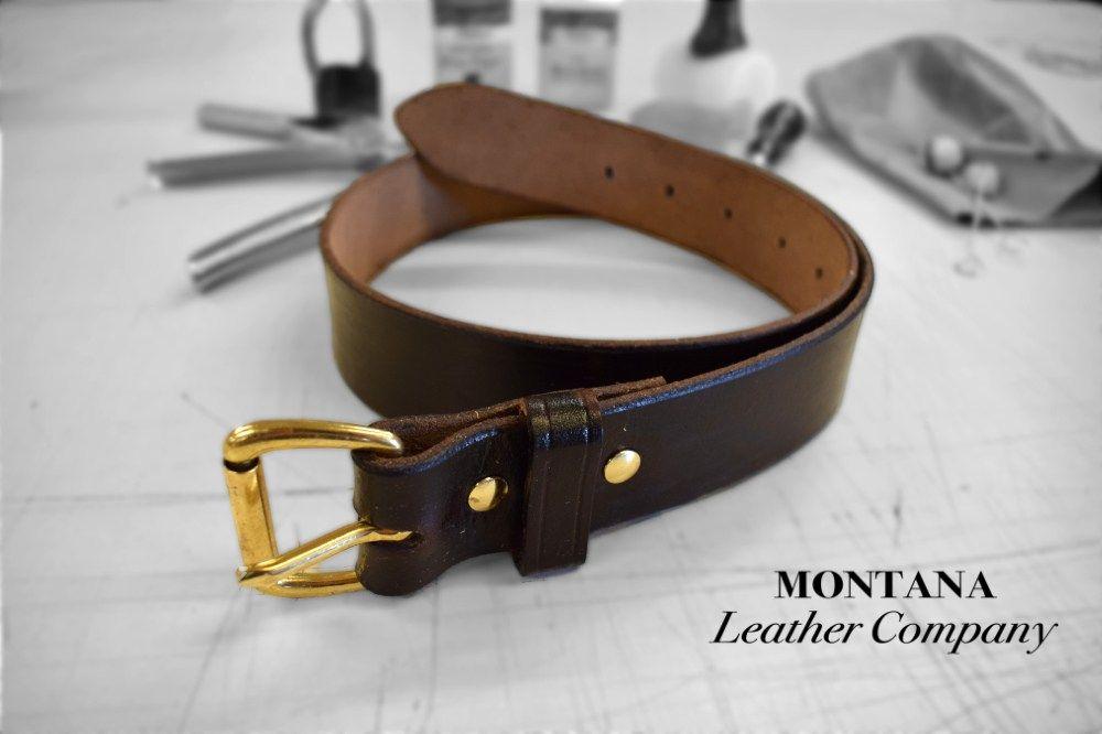 How To Make A Leather Belt Montana Leather Company Leather Company Leather Belt