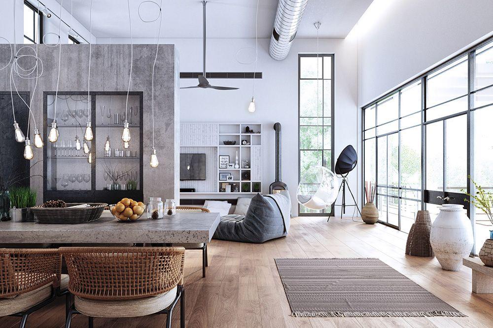 Modern White House On Behance Modern Apartment Design Small