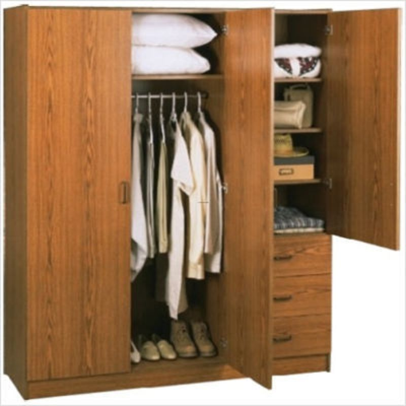 Wardrobe Closet With Hanger Closet And Drawers For Closet Made Of