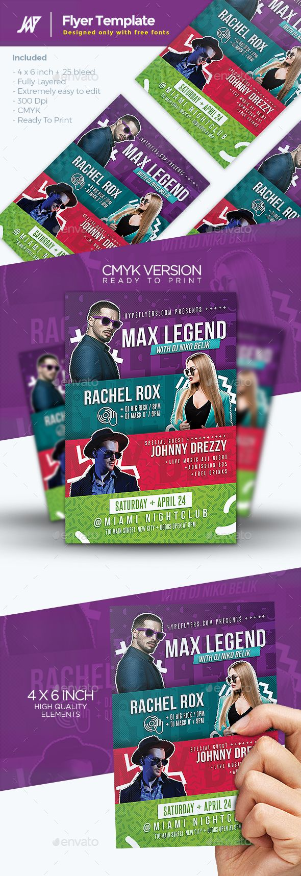 Artist Concert Event Or Party Flyer  Party Flyer Flyer Template