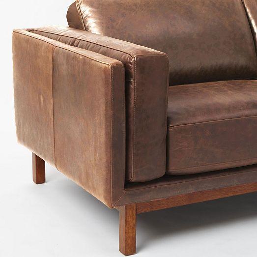 Enjoyable Dekalb Loveseat 68 Weston Leather Molasses Ideas For Bralicious Painted Fabric Chair Ideas Braliciousco