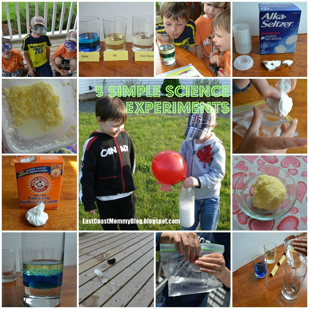 5 {Easy} Science Experiments for Kids