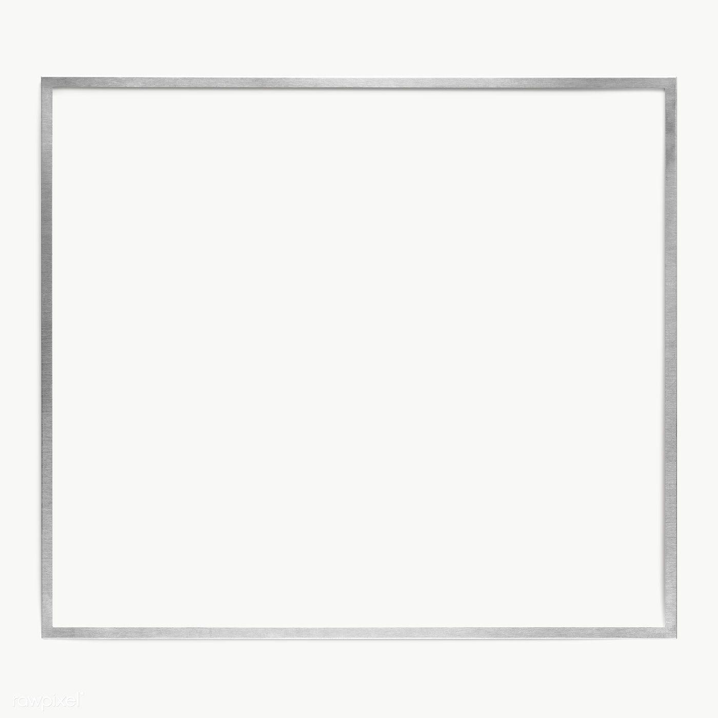 Silver Square Frame Design Element Free Image By Rawpixel Com Jira Frame Design Square Frames Frame