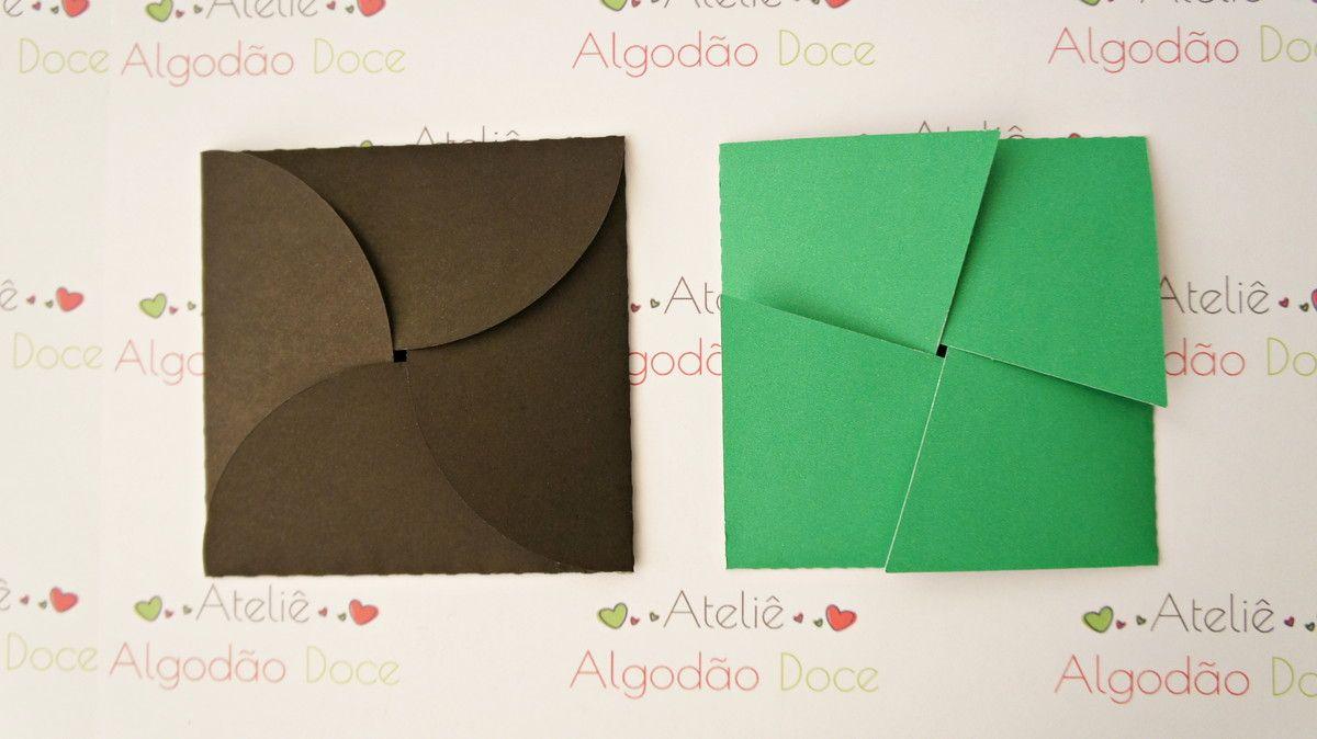 Convite Envelope abas Curvado/Reto