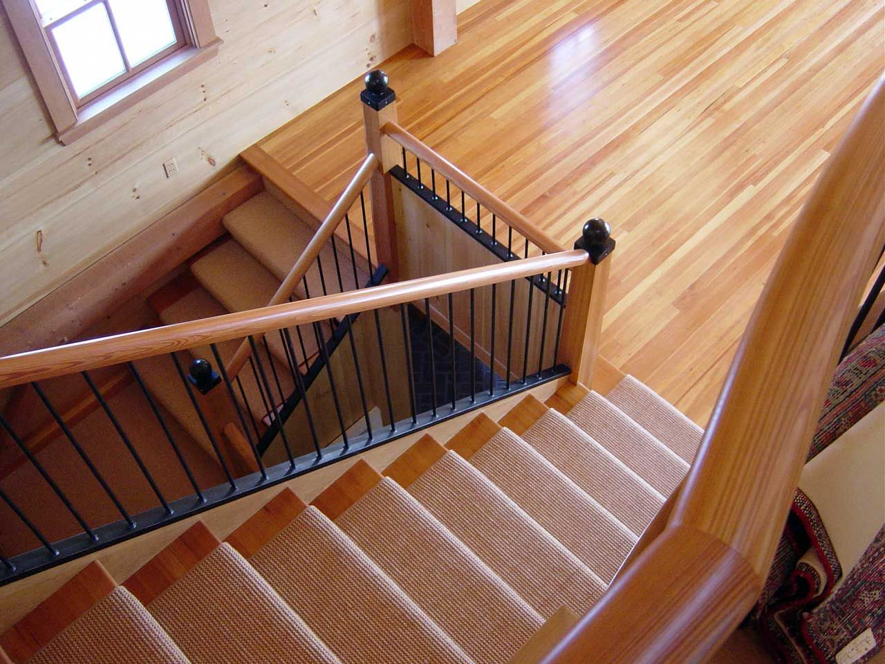 Best Custom Reclaimed Heart Pine Millwork Stairs And Flooring 400 x 300