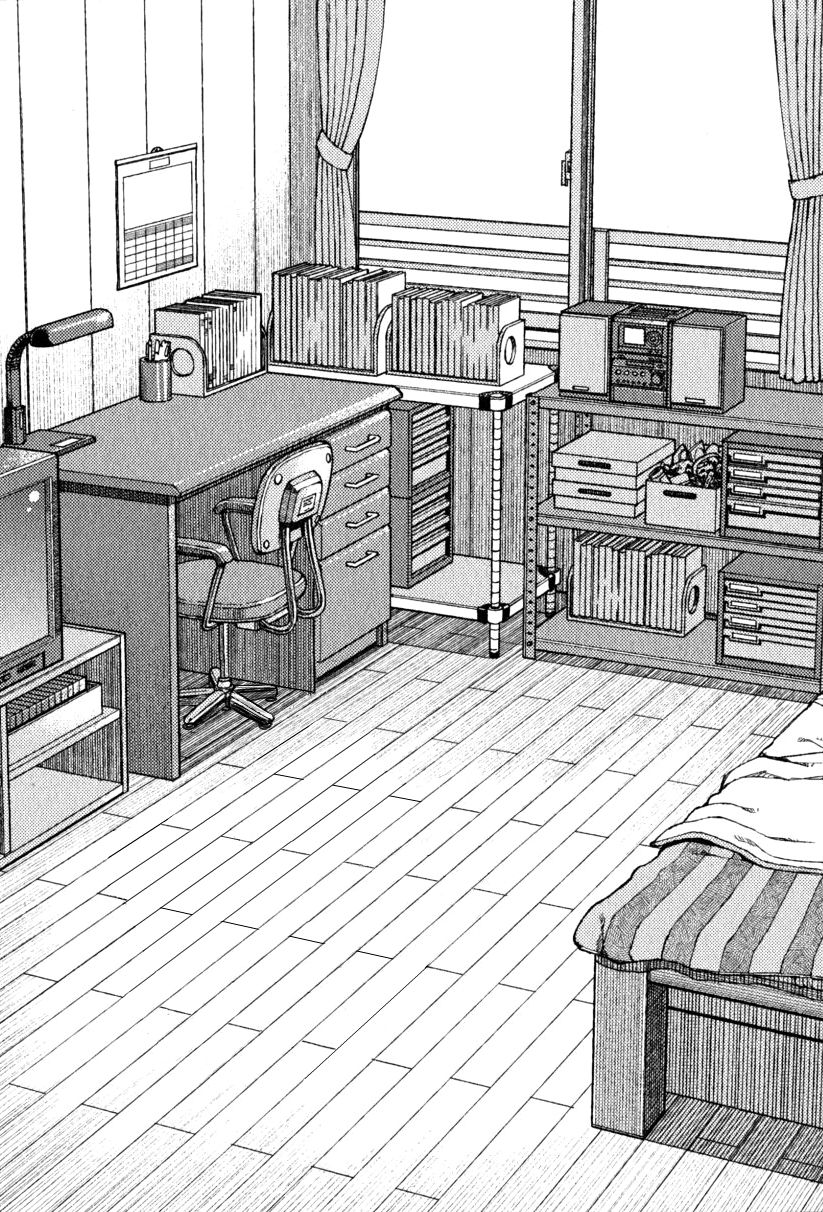 perspective of bedroom by hamada yoshikazu perspective bedroom drawing drawings. Black Bedroom Furniture Sets. Home Design Ideas