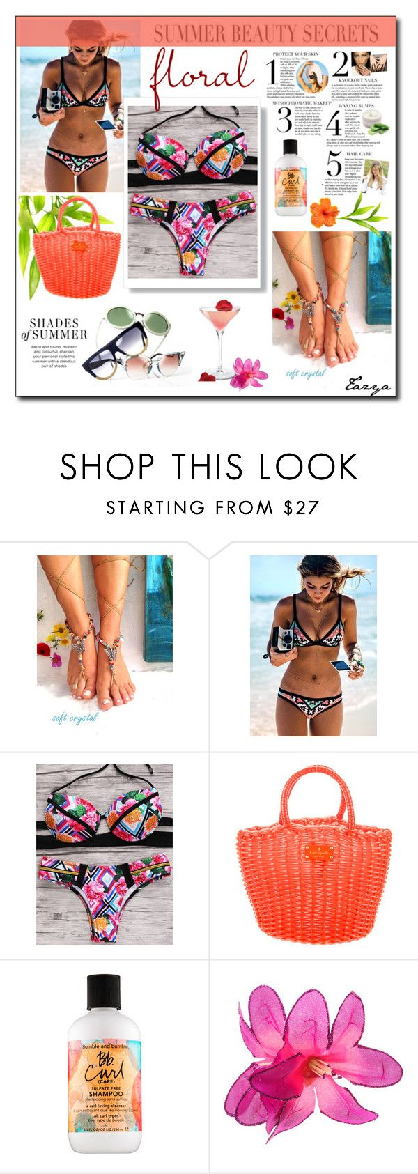 """""""Summer Beauty Secret"""" by tazyaa ❤ liked on Polyvore featuring beauty, Seafolly, Kate Spade and Bumble and bumble"""