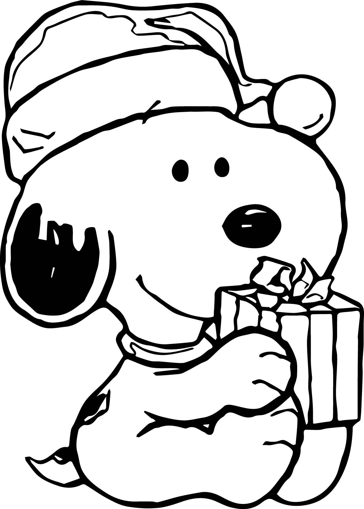cool Baby Snoopy Christmas Coloring Page | Snoopy coloring ...
