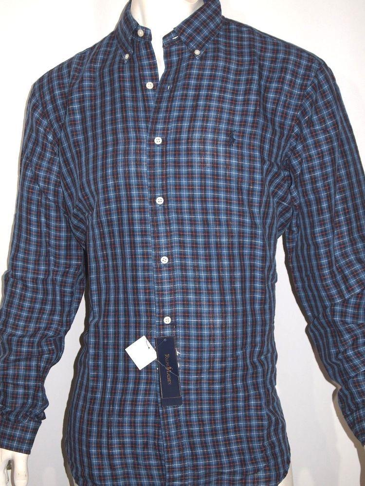 Classic Blend Polo Men's Ralph Shirt Fit Linen Size Checked Lauren c3RqS4j5AL