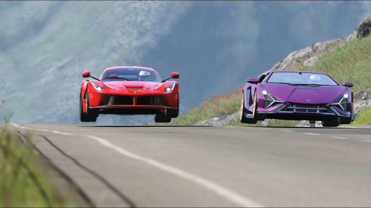 Ferrari Laferrari Vs Lamborghini Sian At Highlands In 2020 Ferrari Laferrari Lamborghini Racing Simulator