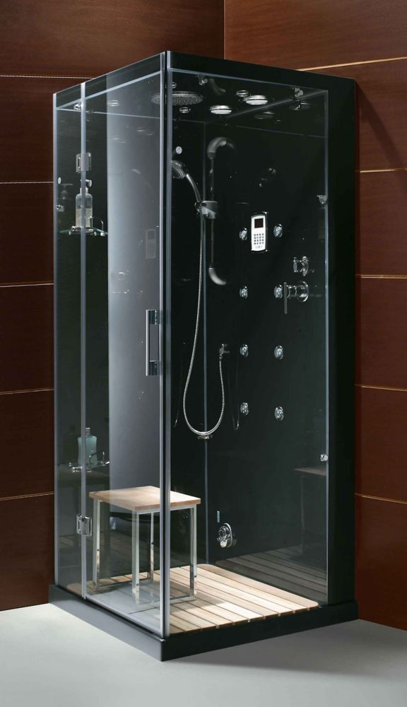 59 Inch X 32 Inch X 86 Inch Orion Left Hand Drain Steam Shower