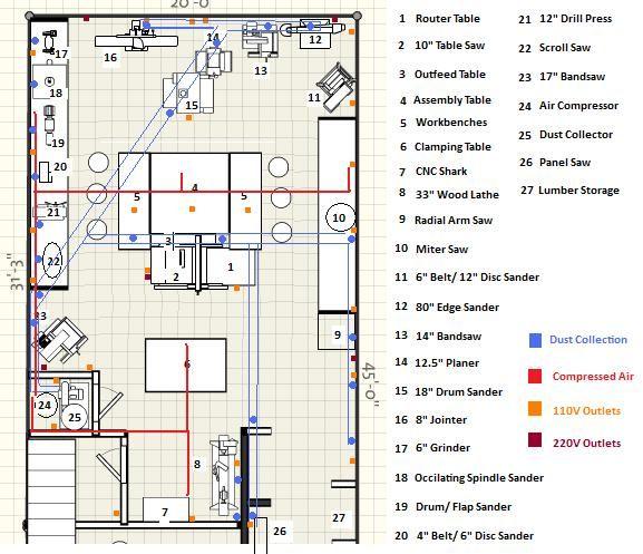 Welding shop layouts google search workshop for Metal workshop plans
