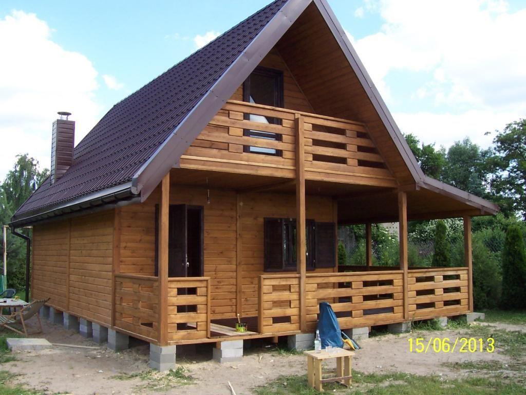Domy Domki Z Drewna Letniskowe Bez Pozwolenia 70m2 4595838543 Oficjalne Archiwum Allegro House Design Tropical House Design Tiny House Plans