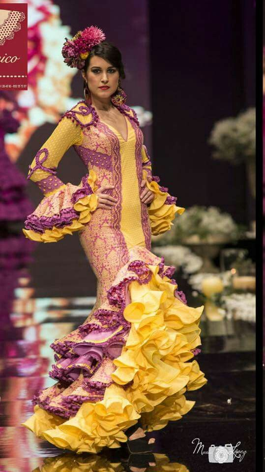 Amarillo Vestidos De Sevillanas Trajes De Gitana Vestidos De Flamenca