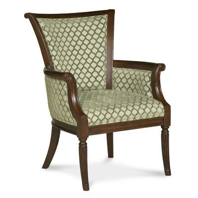 Elegant Fairfield Chair Traditional Trimmed Wingback Chair