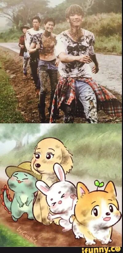IF THIS ISNT THE CUTEST FANART I DONT KNOW WHAT IS!!!! Seriously, dino!Chen killed me.