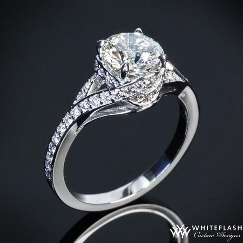 Pave Wrap Diamond Engagement Ring