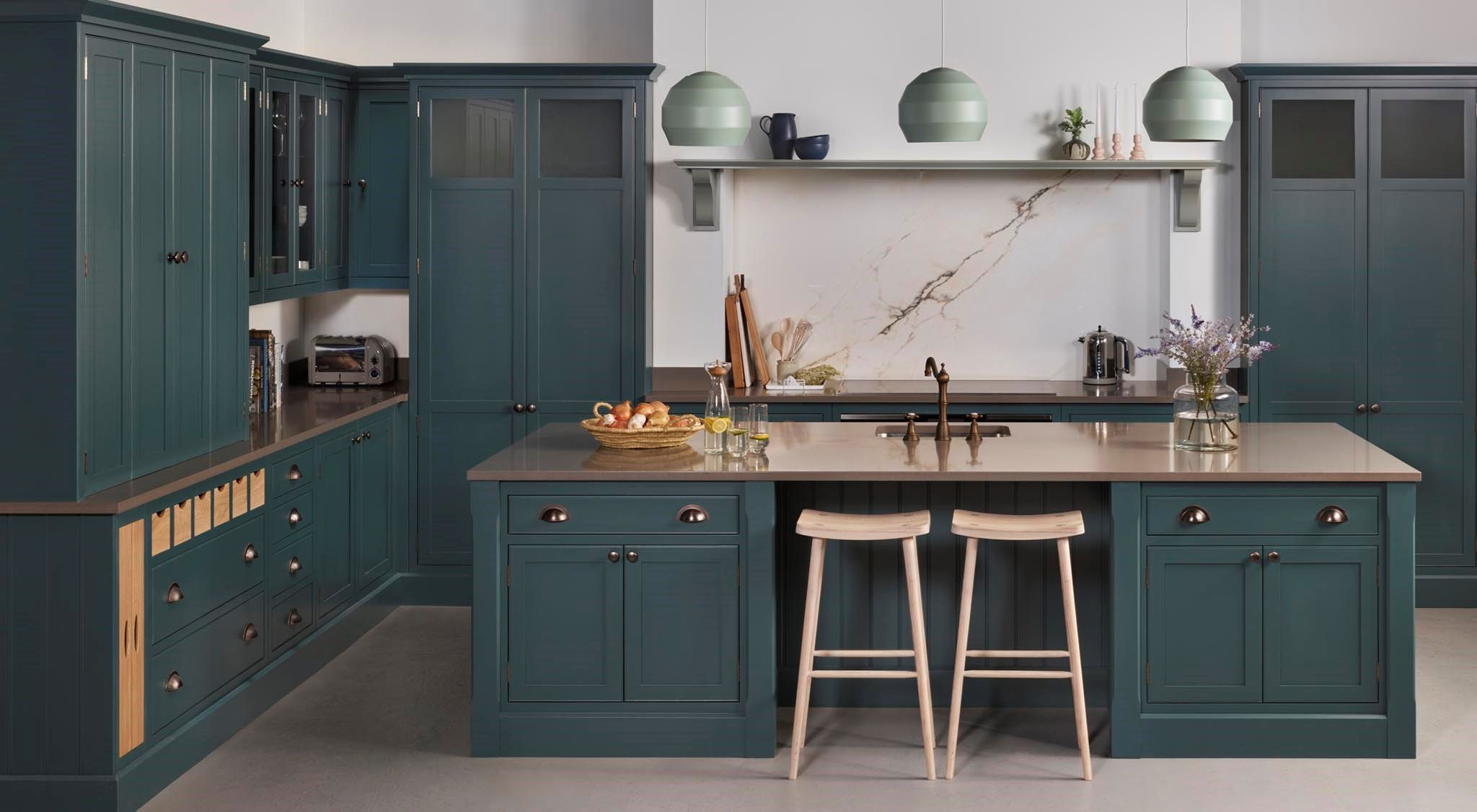 Best Pin By Jessica Bartlett On Kitchen Blue Kitchen Island 640 x 480