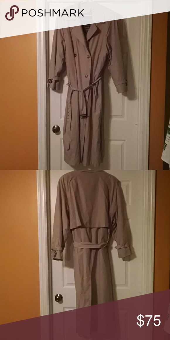 Vintage Anne Klein Trench Coat Bust: 46in; Length: 54in. Great Condition Anne Klein Jackets & Coats Trench Coats