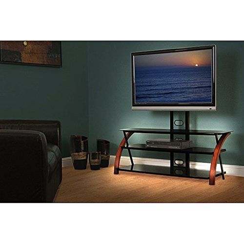Living Room Modern Wood 55 In Wide Tv Stand With Multi Purpose Mounting System Home Entertainment Furniture Entertainment Center Tv Shelving Unit