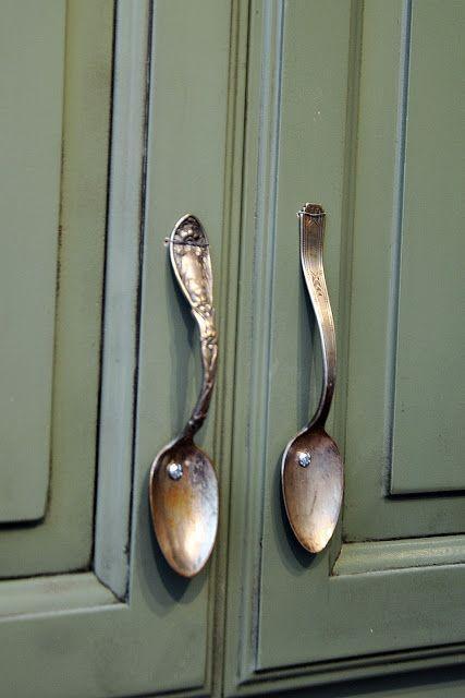 spoon handles id e diy home decor kitchen decor und. Black Bedroom Furniture Sets. Home Design Ideas