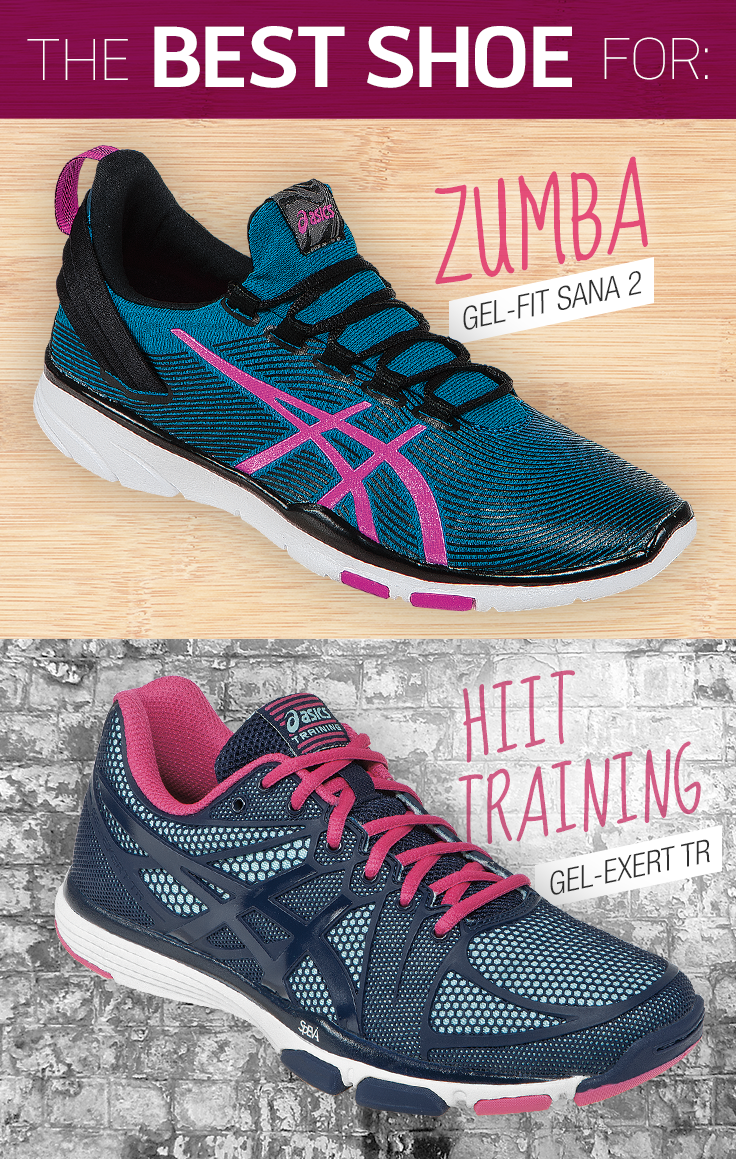 "ASICS has the ""best shoe"" for your favorite fitness class. Salsa in the"
