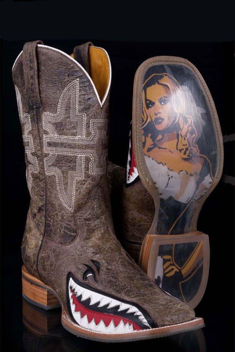 b8a235feda7 Tin Haul Men's Toastin A Narly Shark Cowboy Boots | What the Cowboys ...