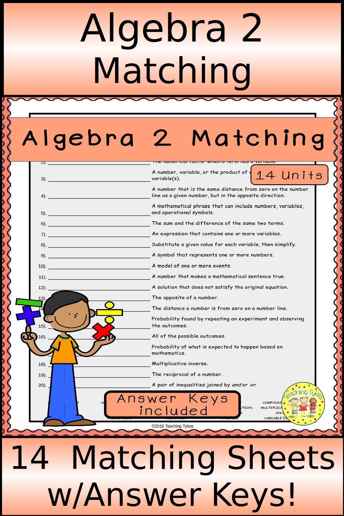 Algebra 2 Matching
