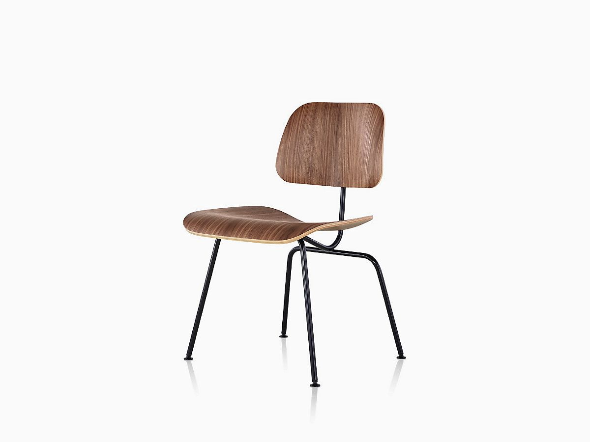 Superb Eames Molded Plywood Dining Chair With Metal Base Chairs Pabps2019 Chair Design Images Pabps2019Com