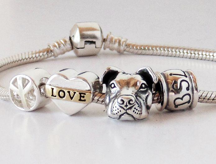 6bd93384cdb Peace Love and Pit Bulls Charm Bracelet (Peaceful | Utopian Princess ...