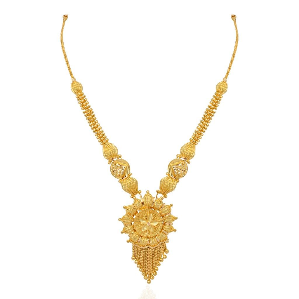 Necklaces | The Plumbago Floral Necklace | GRT Jewellers | gold ...