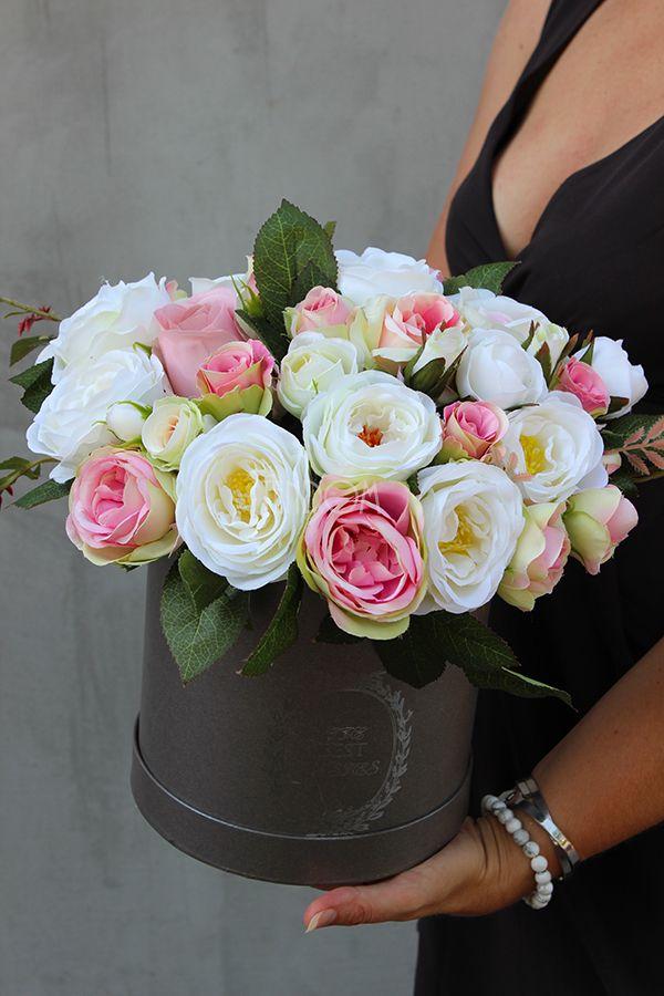 Flower Box Pelen Sztucznych Kwiatow Tendom Pl Flower Boxes Flower Crafts Flowers