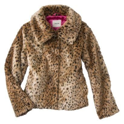 Cherokee® Girls Faux Fur Leopard Jacket Target  ♡ed by http://www.LadyXeona.com