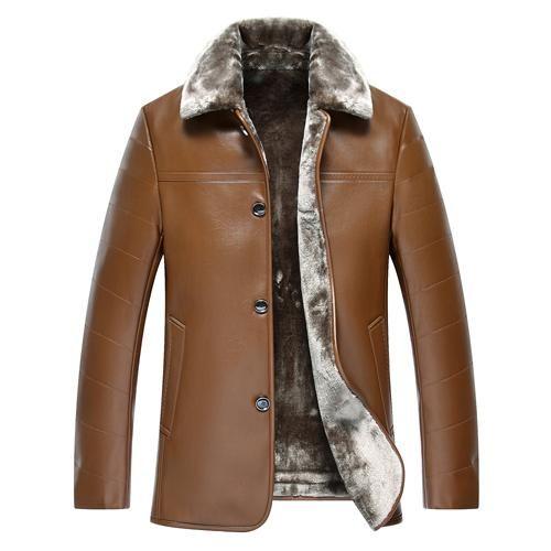 Wopop Mens Winter Overcoat Warm Hooded Wool Lined Parkas Coats Jacket